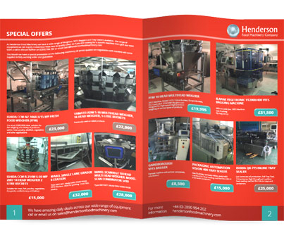 Henderson Food Machinery Special Offers Brochure