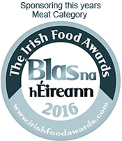 Sponsoring the Meat Award at the Irish Food Awards 2016