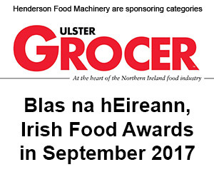 Henderson Food Machinery are sponsoring categories at Blas na hEireann, Irish Food Awards in September 2017